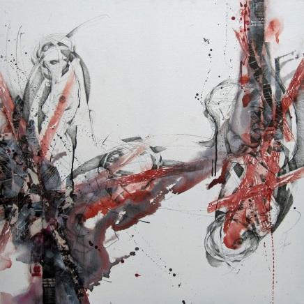"""""""El precio de la Libertad"""", technique mixte, 80 x 80 cm"""